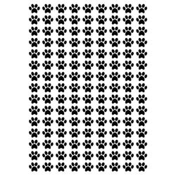 S/A Paws 13mm x 11mm Decal