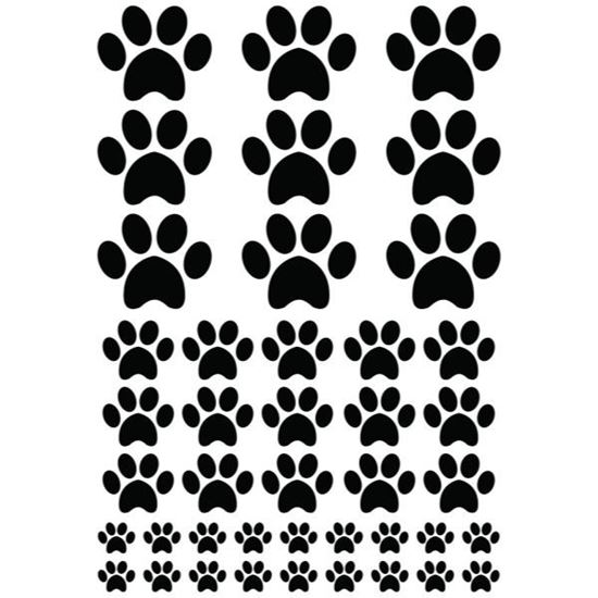 Assorted Paws Decal