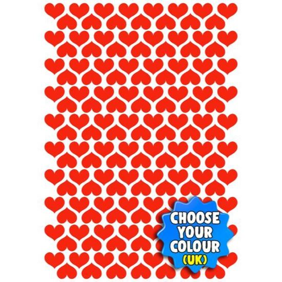 S/A Hearts 15mm x 12.5mm Decal