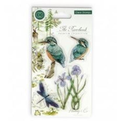 The Riverbank Kingfishers - A6 clear stamp set