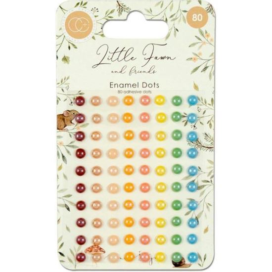 Little Fawn & Friends Adhesive Enamel Dots