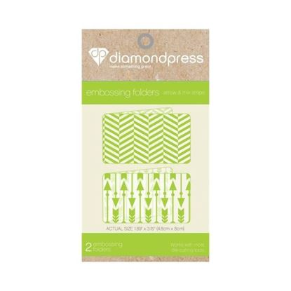 Diamond Press Embossing Folder - Arrow & Stripes