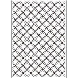Embossing Folder - Fancy Lattice - A4