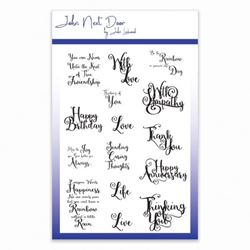 John Next Door Clear Stamp - Swirl Sentiments