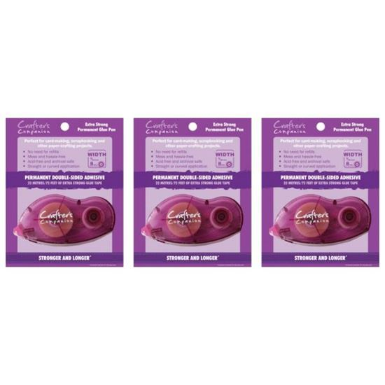 Crafters Companion Permanent Tape Pen 3pk