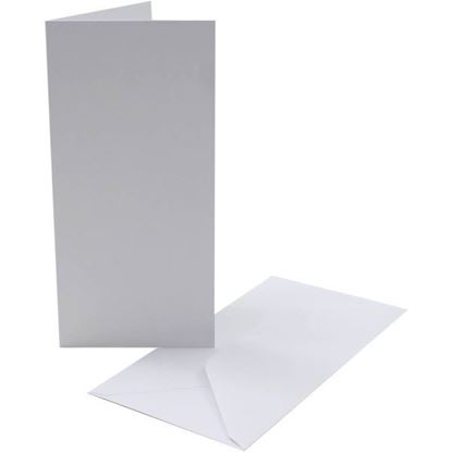 DL Cards & Envelopes 330gsm Silk Card 100g Env
