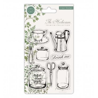 The Herbarium A6 Clear Stamp Set - Utensils