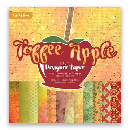 "Clarity 8"" x 8"" Toffee Apple Designer Papers"