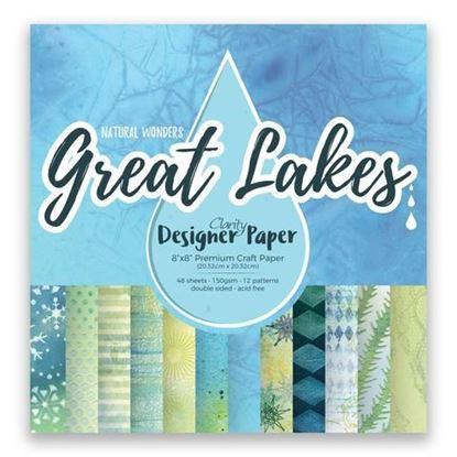 "Clarity 8"" x 8"" Great Lakes Designer Papers"
