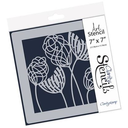 Clarity Stencil 7 x 7 - Abstract Dandelions