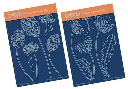 Picture of Absract Dandelions A6 Groovi Plates - 2 Design available