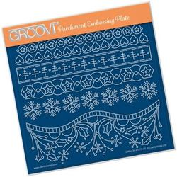 Tina's A Hearty Christmas Panels - A5 Square Groovi Plate