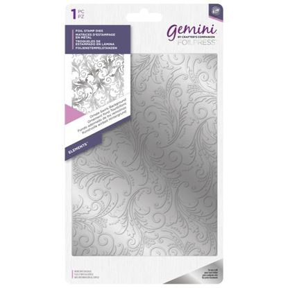 Gemini Foil Elements Stamp Die - Ornate Swirls Background