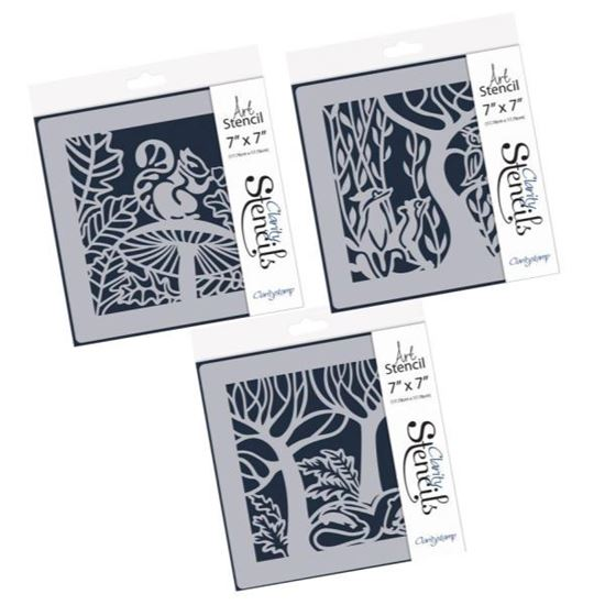 Clarity Stencils 7x7 Woodland Animals FULL SET