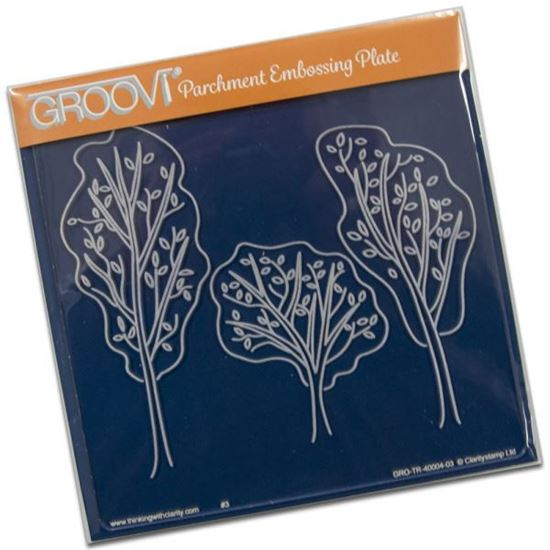 Groovi Plate A5 Square Trees