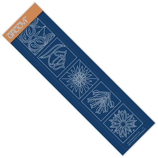 Floral Squares Groovi Border Plate - Daisy