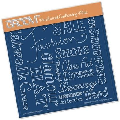 Fashion Phrases Groovi A5 Square Plate