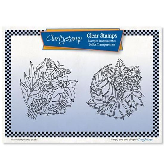 Clarity Stamps Set - Butterfly Rounds & Mask