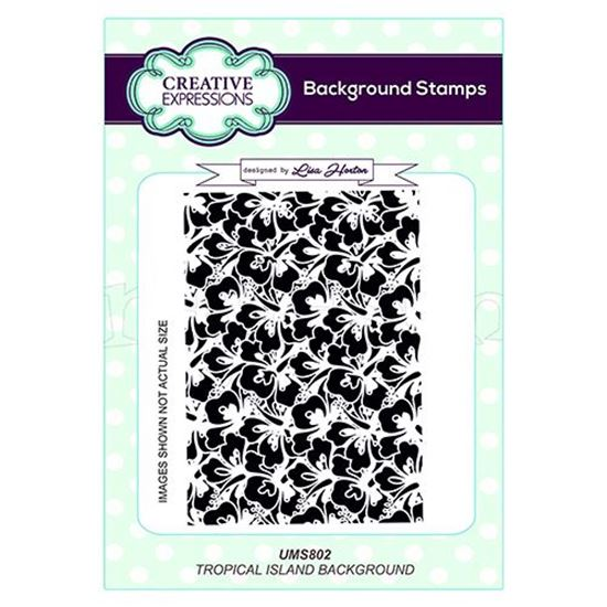 Tropical Island Background Stamp A6