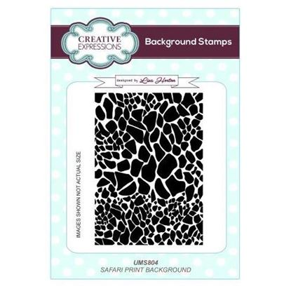 Creative Expressions A6 Background Stamp - Safari Print