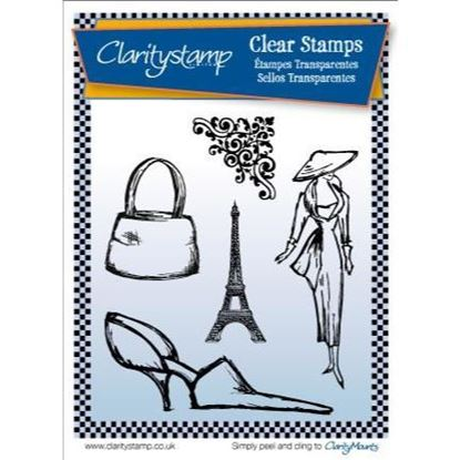 Clarity Clear Stamp Set - Sketchy Paris & 1 A5 Mask Sheet