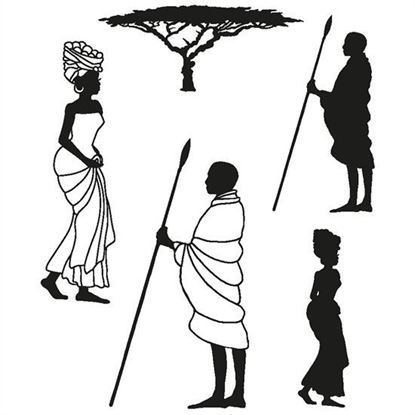 Clarity Clear Stamp & Mask Set - Africa