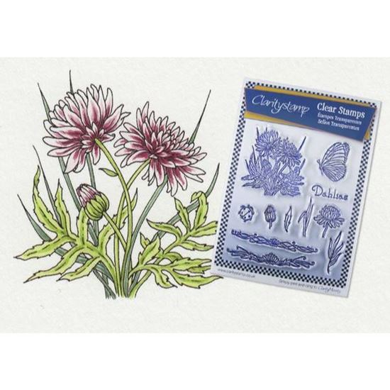 Clarity Clear Stamp Set - Jayne Nestorenko Dahlias