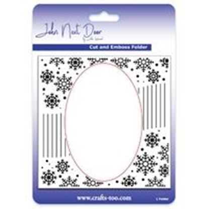 John Next Door Cut & Emboss Folder - Snowflake Swirl
