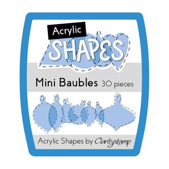 Mini Assorted Acrylic Baubles by Clarity