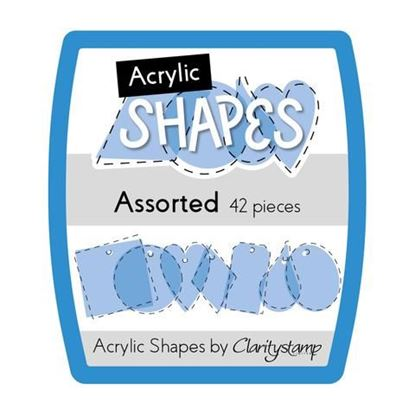 Mini Assorted Acrylic Shapes by Clarity