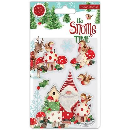 Its's Snome Time A6 Clear Stamp Set - Robin Mischief