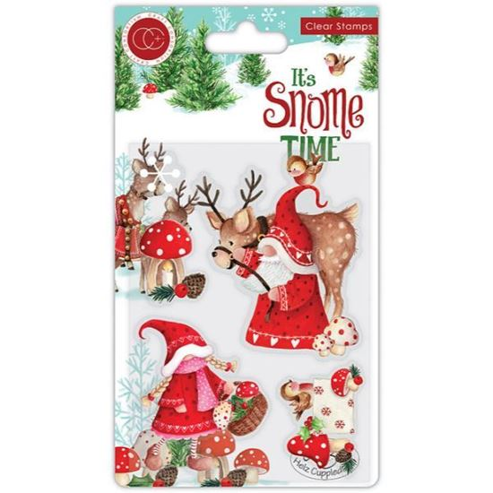Its's Snome Time A6 Clear Stamp Set - Mr & Mrs Snome