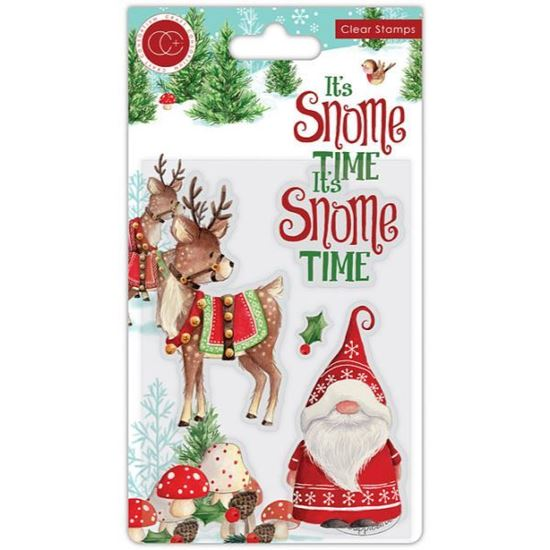 Its's Snome Time A6 Clear Stamp Set - Snome Time
