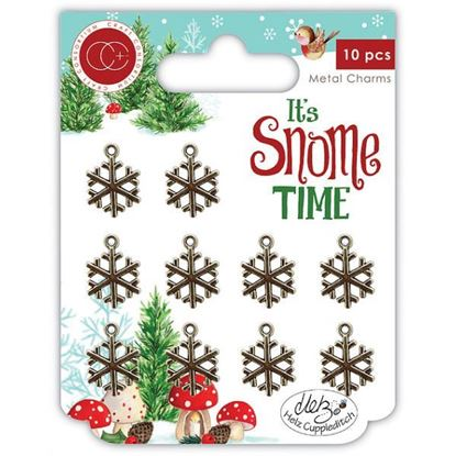 It;s Snome Time - Snowflake Metal Charms