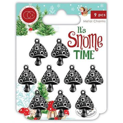 It;s Snome Time - Toad Stools Metal Charms