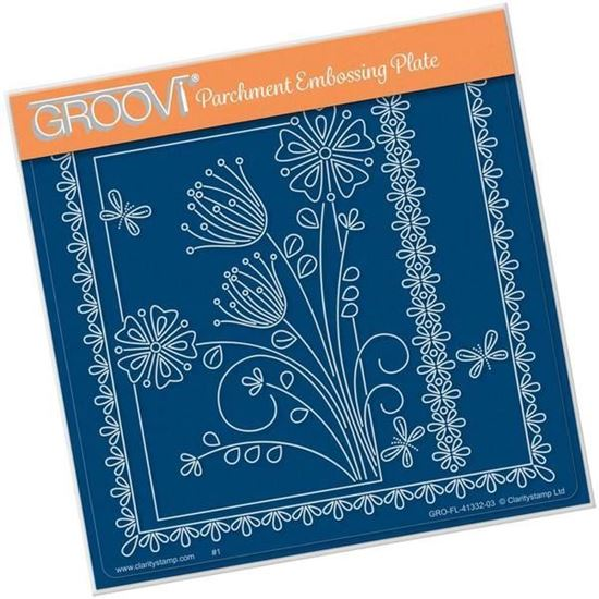 Tina's Floral Delights - Primrose A5 Square Groovi Plate