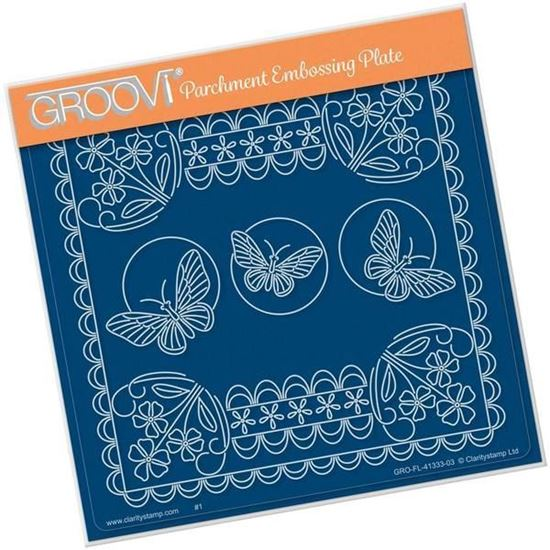 Tina's Floral Delights - Forget Me Not A5 Square Groovi Plate