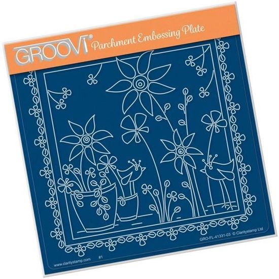 Tina's Floral Delights - Sunflower A5 Square Groovi Plate