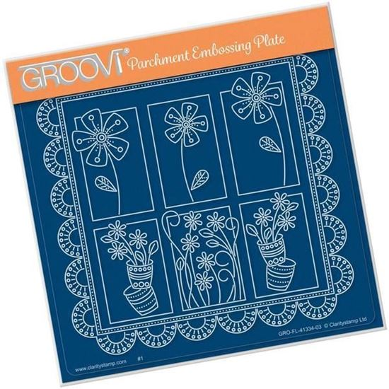 Tina's Floral Delights - Daisy A5 Square Groovi Plate