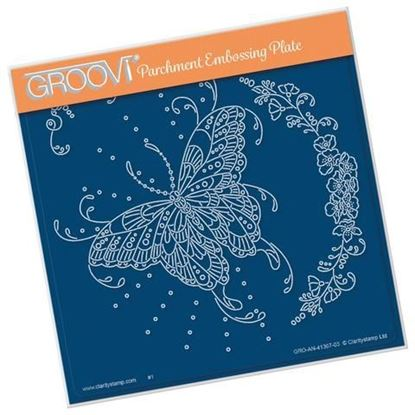 Cherry Green's Butterfly & Floral Flourish A5 Square Groovi Plate