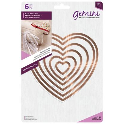 Gemini Multi Media Die - Nesting Hearts
