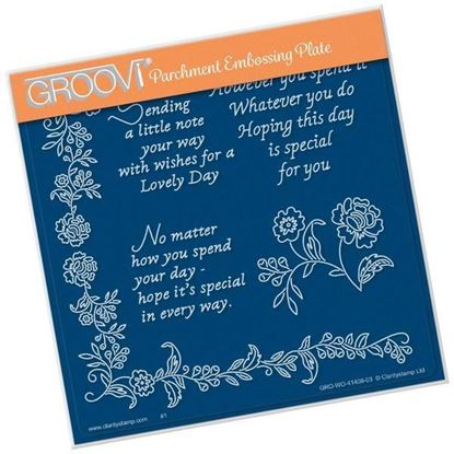 Special Day Sentiments A5 Square Groovi Plate