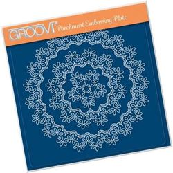 Nested Lace Fancy Swirl Border A5 Square Groovi Plate