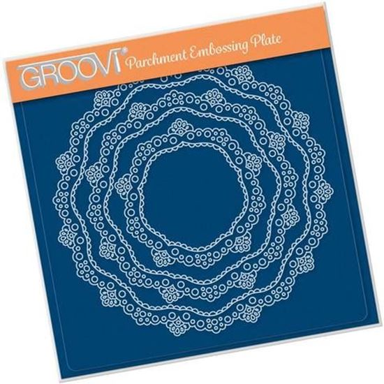 Nested Lace Doily Border A5 Square Groovi Plate