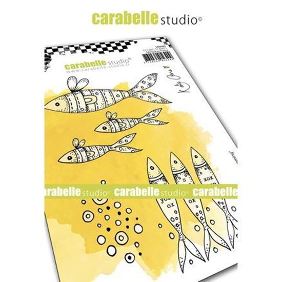 Carabelle Art Cling Stamps A6 - Keep Swimming.