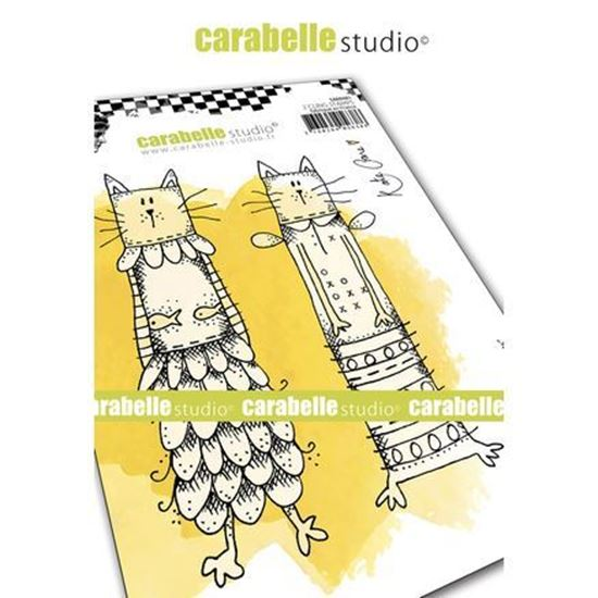 Carabelle Art Cling Stamps A6 - Cooky Cats
