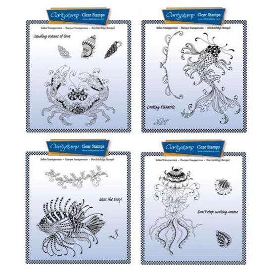 Cherry's Under the Sea A5 Stamps - Full Set