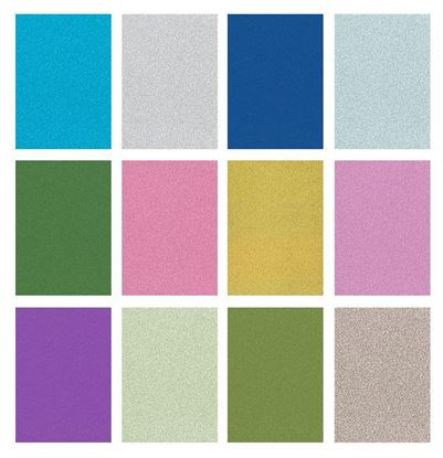 Picture of Glitter Card Non Shed 220gsm - (Various Colours)