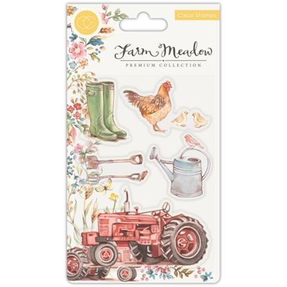 Farm Meadow A6 Clear Stamp Set - Farm Meadow