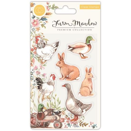 Farm Meadow A6 Clear Stamp Set - Animals